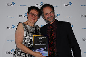 Dr Hilary Cass presents the BMJ First Prize in Psychiatry to Jon Frederickson
